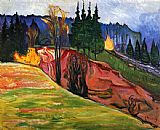 Edvard Munch From Thuringewald painting