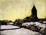 Edvard Munch Old Aker Church painting