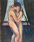 Edvard Munch the kiss painting