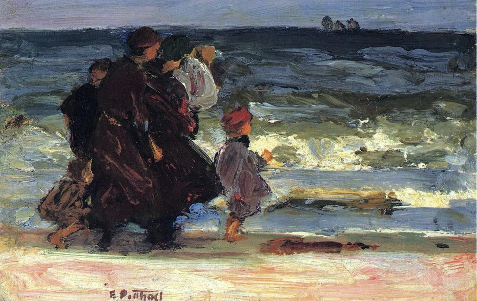 Edward Henry Potthast A Family at the Beach
