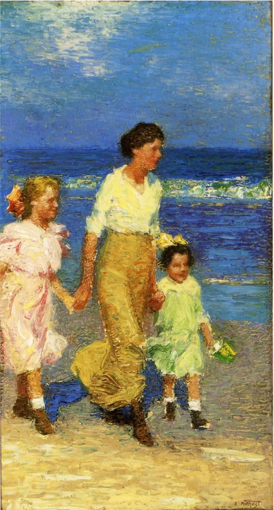 Edward Henry Potthast A Walk on the Beach