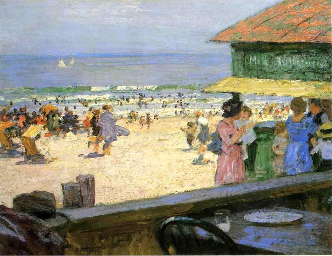 Edward Henry Potthast Beach Scene 5