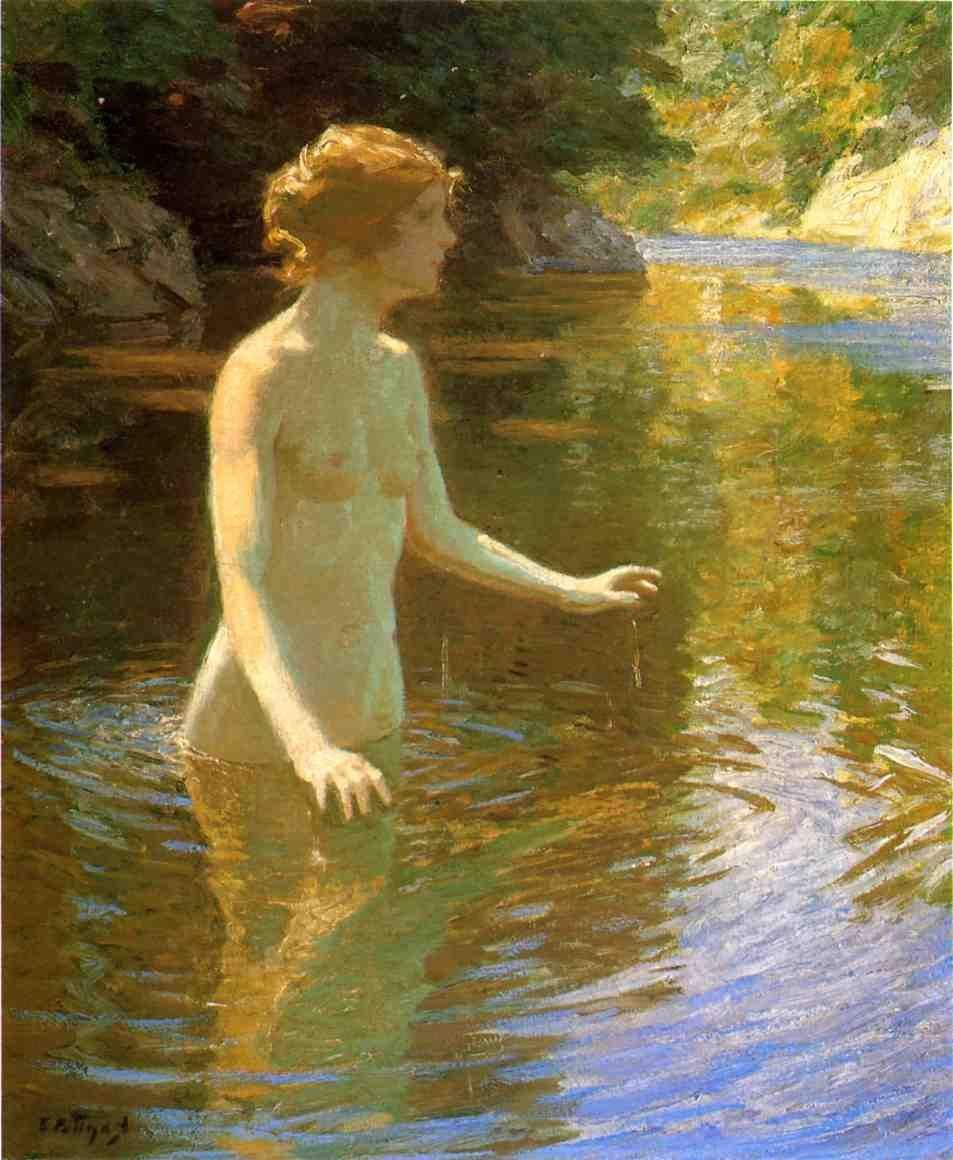 Edward Henry Potthast Enchanted Pool