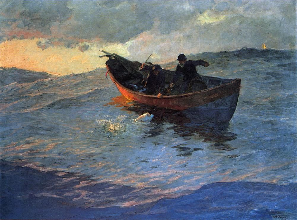 Edward Henry Potthast Struggle for the Catch