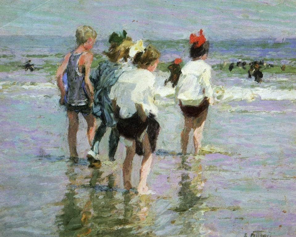 Edward Henry Potthast Summer Day Brighton Beach