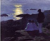 Edward Henry Potthast A Summer's Night painting