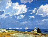 Edward Henry Potthast Along the Shore painting