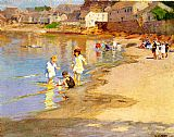Edward Henry Potthast At the Beach painting