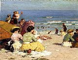 Edward Henry Potthast Beach Scene 1 painting