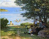 Edward Henry Potthast By the Water painting