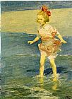 Edward Henry Potthast In the Surf painting