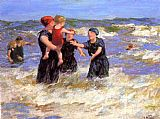 Edward Henry Potthast Making Friends painting
