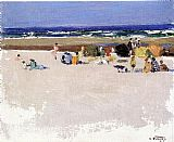 Edward Henry Potthast On the Beach painting