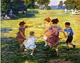 Edward Henry Potthast Ring Around the Rosie painting