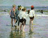 Edward Henry Potthast Summer Day Brighton Beach painting