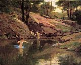 Edward Henry Potthast The Swimming Hole painting
