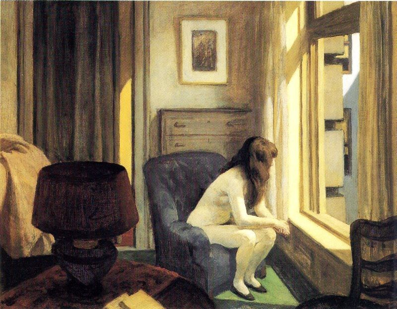 Eleven AM  by Edward Hopper   Giclee Canvas Print Repro
