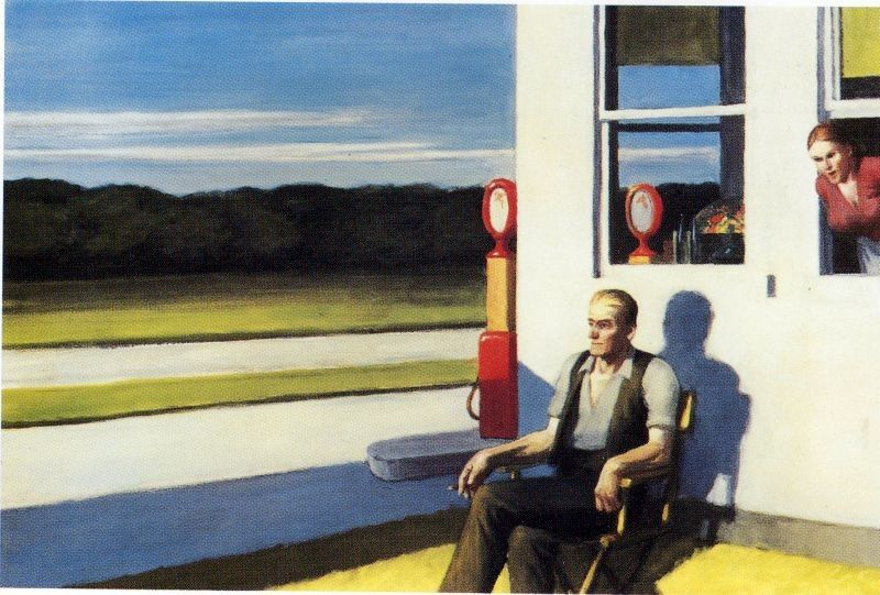 Edward Hopper Four Lane Road