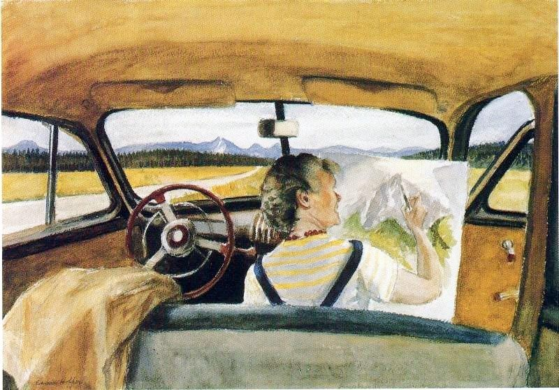 Edward Hopper Jo in Wyoming