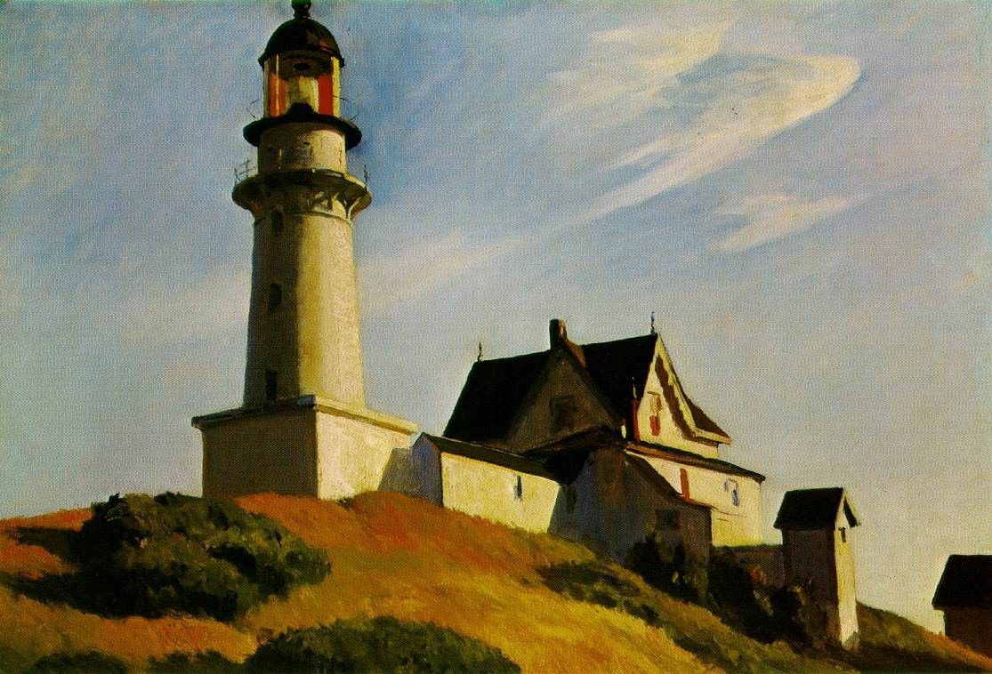 Edward Hopper The Lighthouse at Two Lights