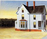 Edward Hopper Cape Cod Sunset painting