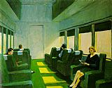 Edward Hopper Chair Car painting