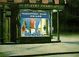 Edward Hopper Drug Store painting