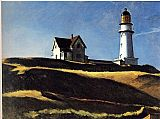 Lighthouse paintings - Lighthouse Hill by Edward Hopper