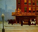 Street paintings - New York Street Corner by Edward Hopper