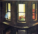 Edward Hopper Night Windows painting