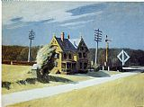 Edward Hopper Railroad Crossing painting