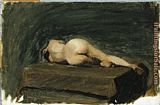 Edward Hopper Reclining Female Nude from Rear painting