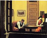 Edward Hopper Room in New York painting