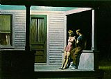 Edward Hopper Summer Evening painting