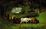 Edward Mitchell Bannister Driving Home the Cows painting