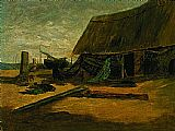 Edward Mitchell Bannister Fishing Shacks painting