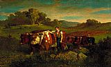 Edward Mitchell Bannister Herdsmen with Cows painting