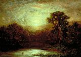 Edward Mitchell Bannister Sunset painting