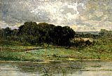 Edward Mitchell Bannister Swale Land painting