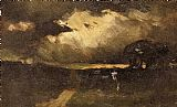Edward Mitchell Bannister The Storm painting