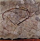 Egon Schiele Autumn Tree in Movement painting
