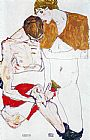 two couples Paintings - Courting couple