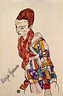 Egon Schiele Portrait of the Actress Marge Boerner painting