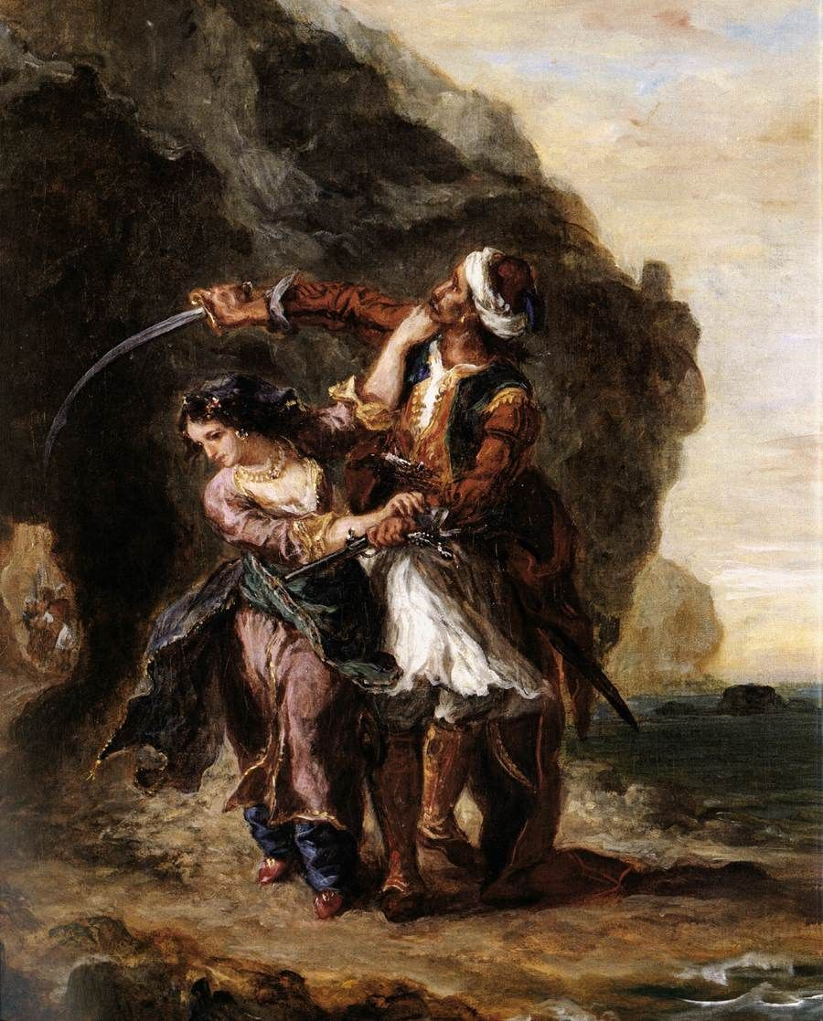Eugene Delacroix The Bride of Abydos