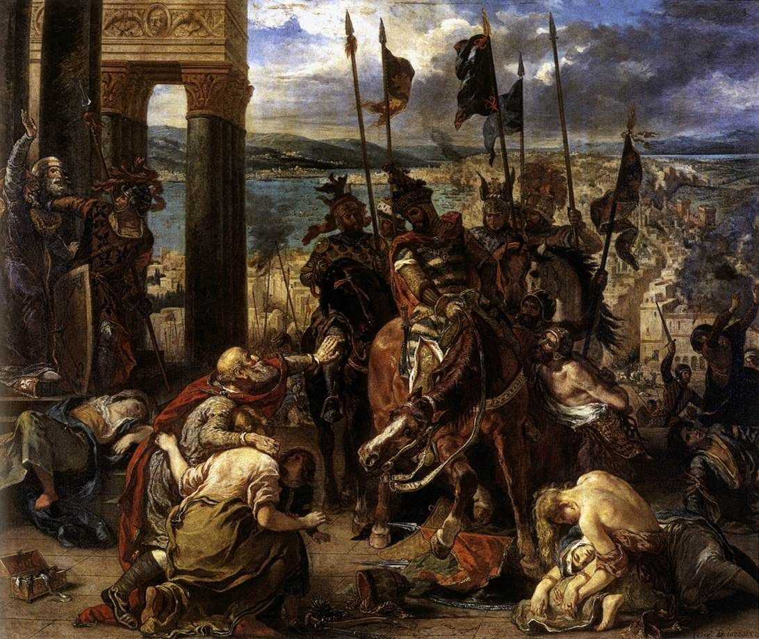 Eugene Delacroix The Entry of the Crusaders into Constantinople