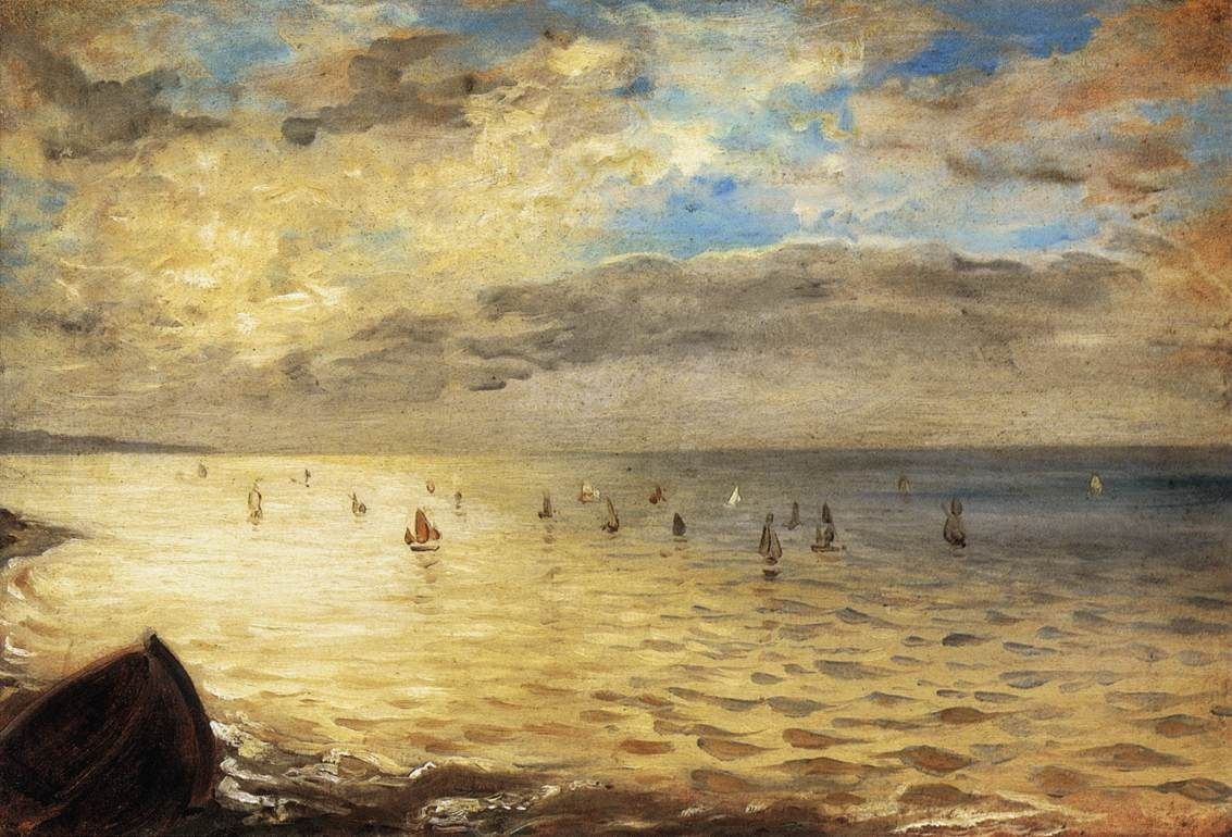 Eugene Delacroix The Sea from the Heights of Dieppe