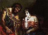 Eugene Delacroix Cleopatra and the Peasant painting