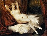 Eugene Delacroix Female Nude Reclining on a Divan painting