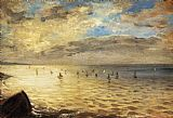 Eugene Delacroix The Sea from the Heights of Dieppe painting