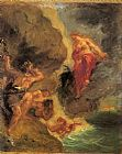 Eugene Delacroix Winter Juno and Aeolus painting